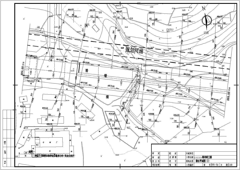 江苏省某市道路给排水管线设计CAD施工图图片3