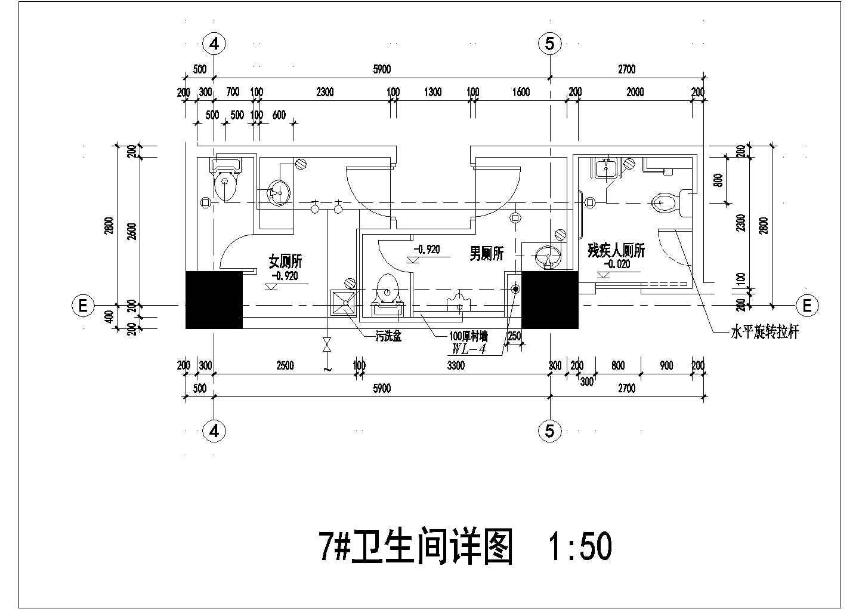 某地区住宅楼卫生间给排水施工详图图片3