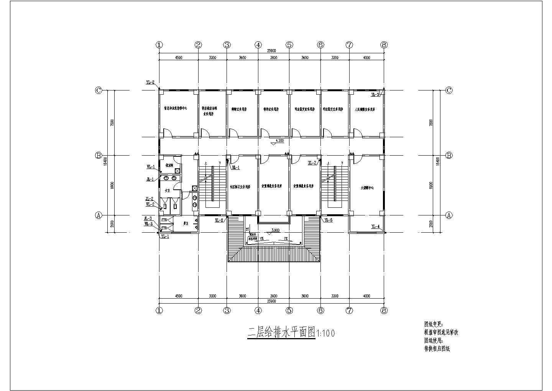 多层办公楼给排水消防施工图设计(含外线总图)图片3
