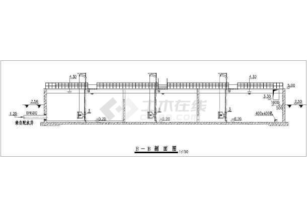 某地区工业废水处理氧化沟施工CAD图-图二