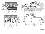 中式园林别墅建筑设计全套图纸图片2