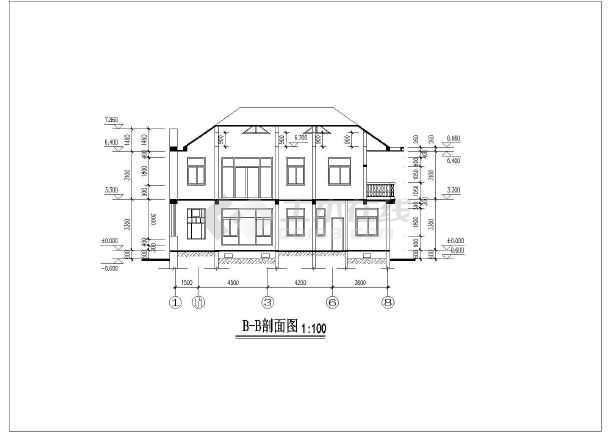 简洁二层舒适新农村自建别墅建筑设计图(全套)-图二