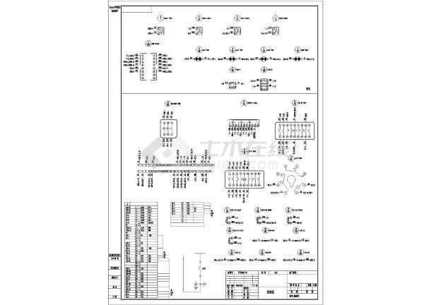某地区变压器保护监控接线CAD图纸-图二