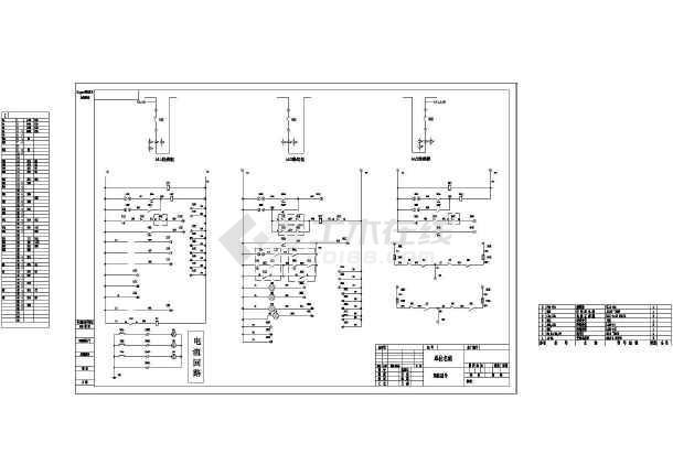 某地区变压器保护监控接线CAD图纸-图3