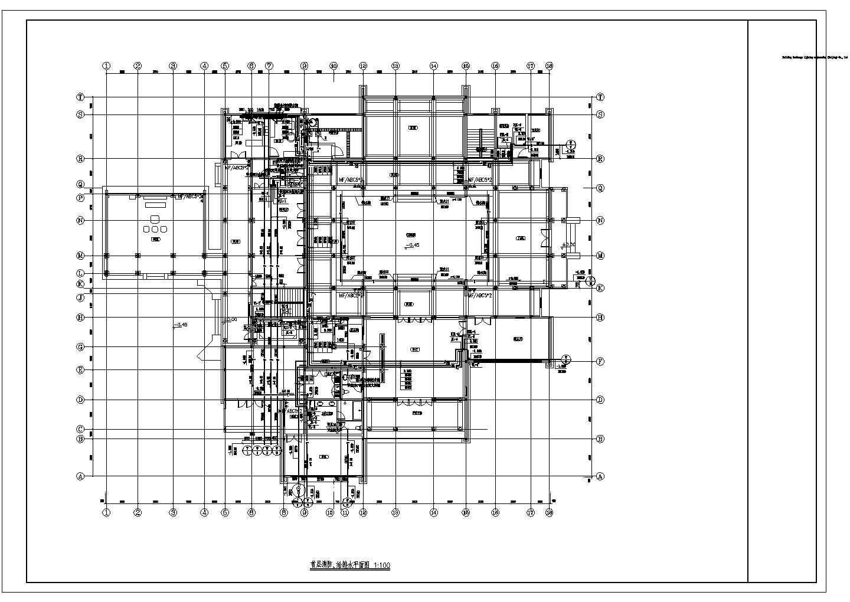 某禅修院精装修卫生间给排水大样设计图图片2