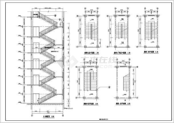 楼梯、电梯、卫生间装修设计大样节点详图-图2