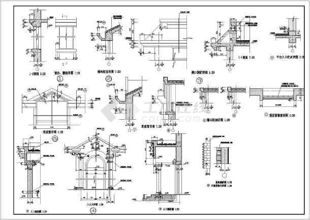 某小区混凝土别墅CAD设计全套图纸-图2
