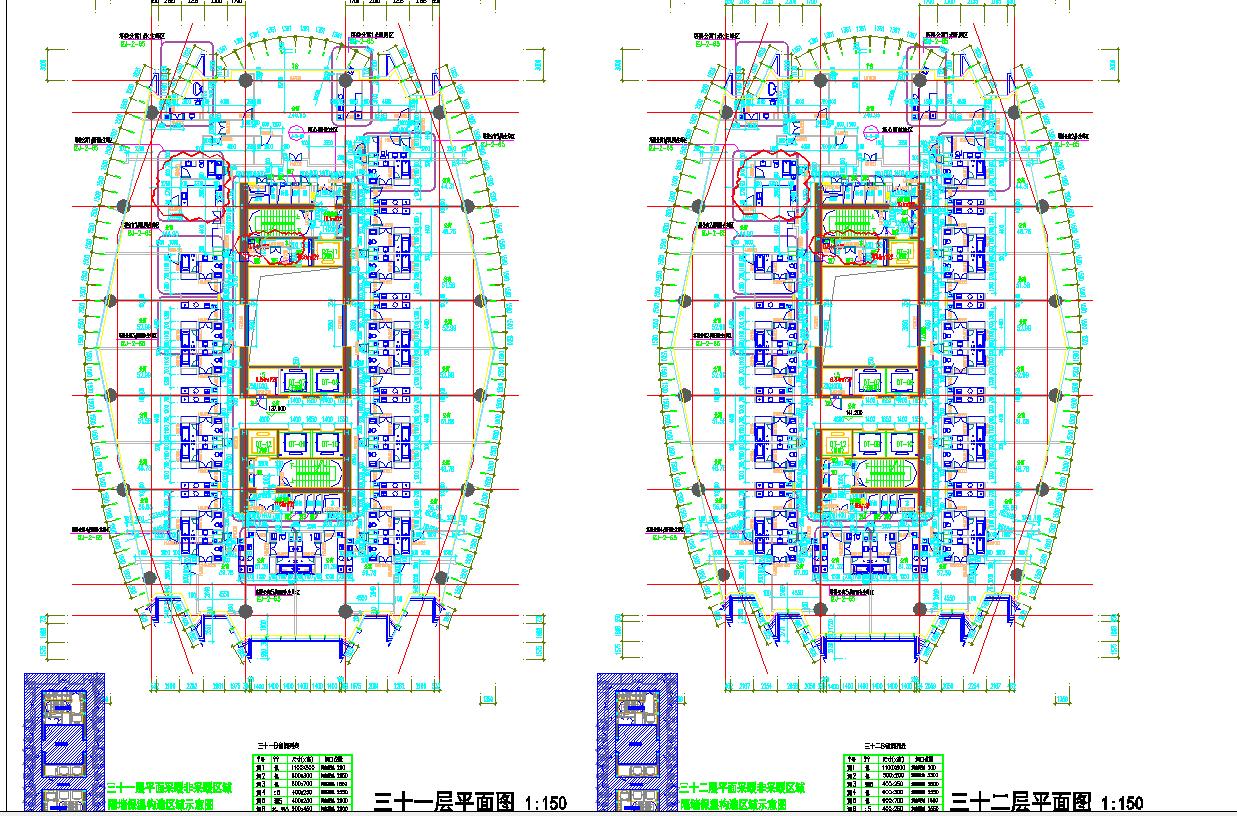 某地区四十二层超高层国际广场平面图图片1