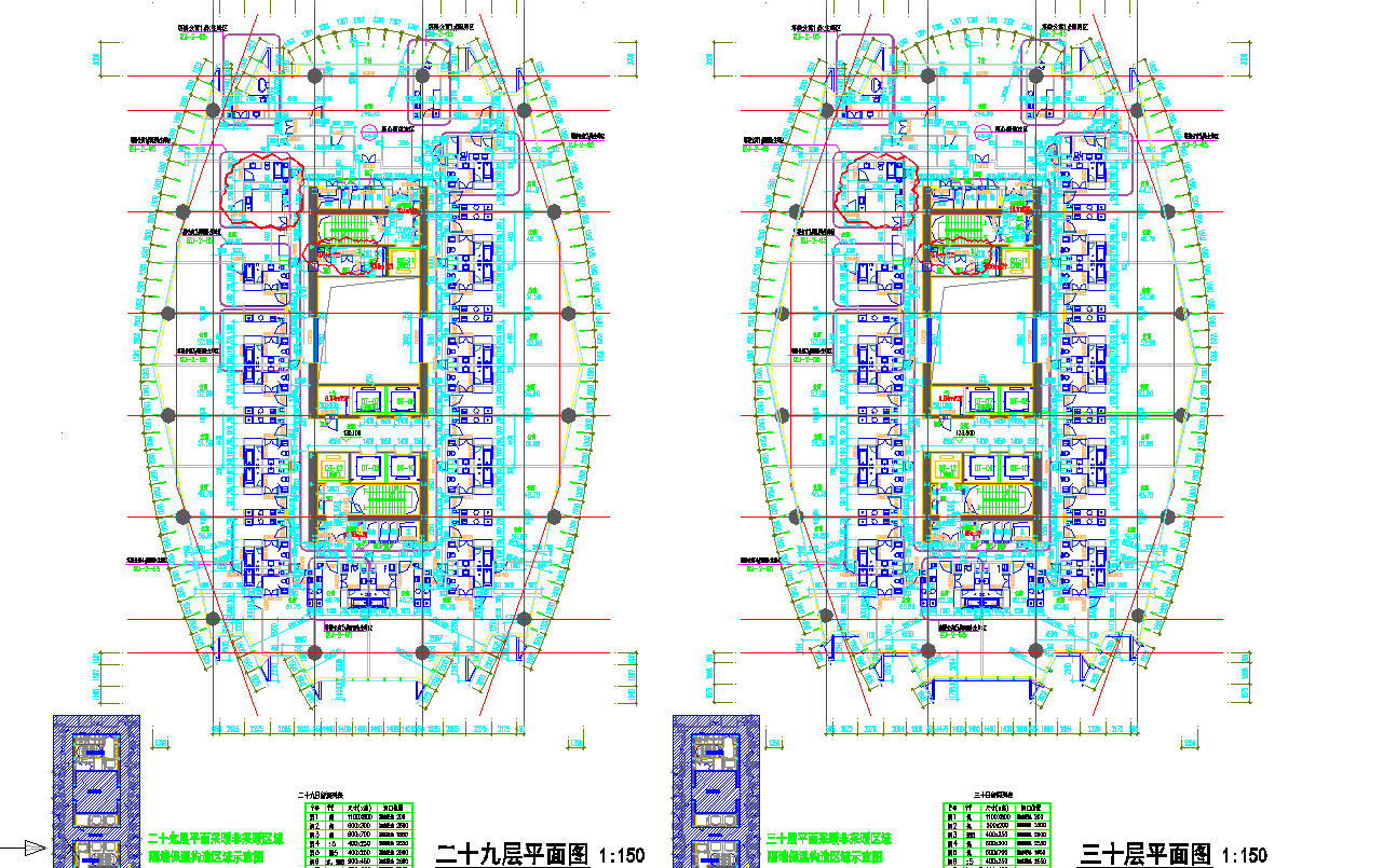 某地区四十二层超高层国际广场平面图图片2
