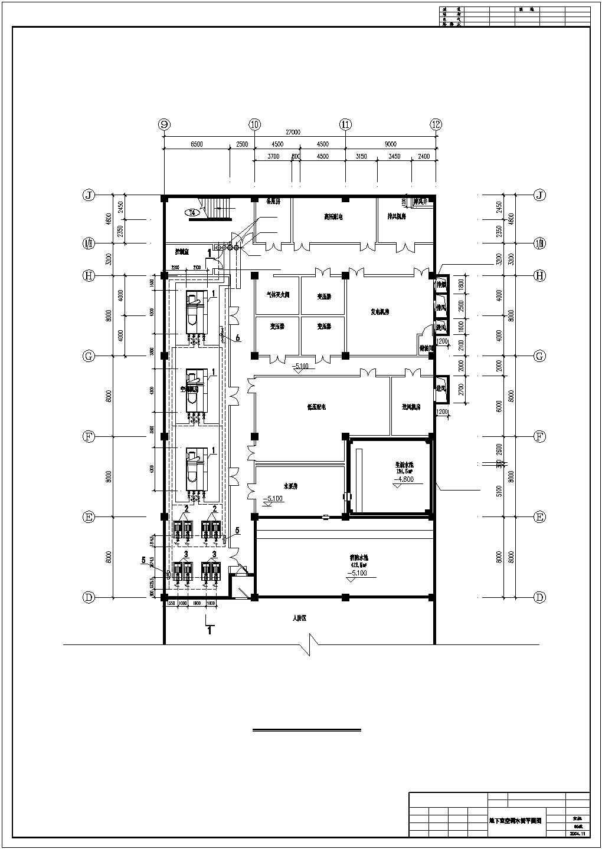 某地区超市商场地下室中央空调cad设计施工图纸图片1