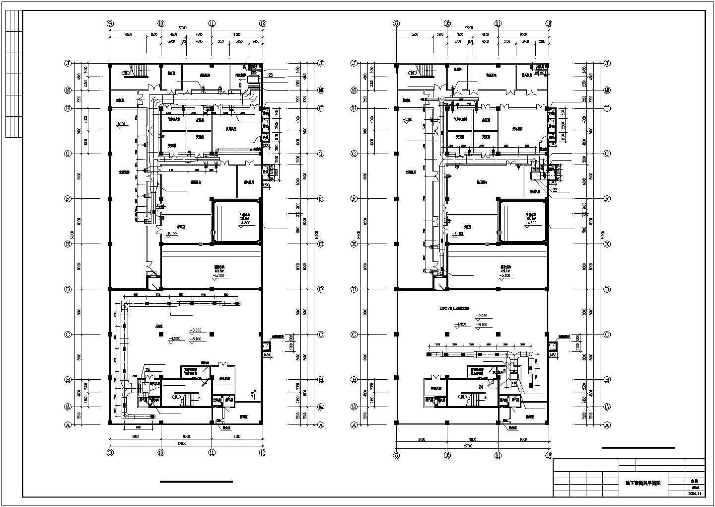 某地区超市商场地下室中央空调cad设计施工图纸图片2