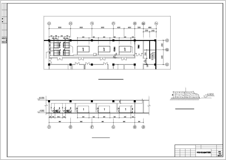 某地区超市商场地下室中央空调cad设计施工图纸图片3