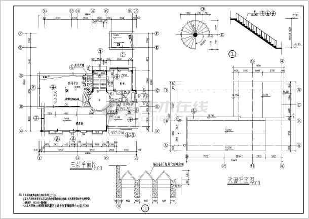 新颖独特三层新农村房屋建筑设计图-图一