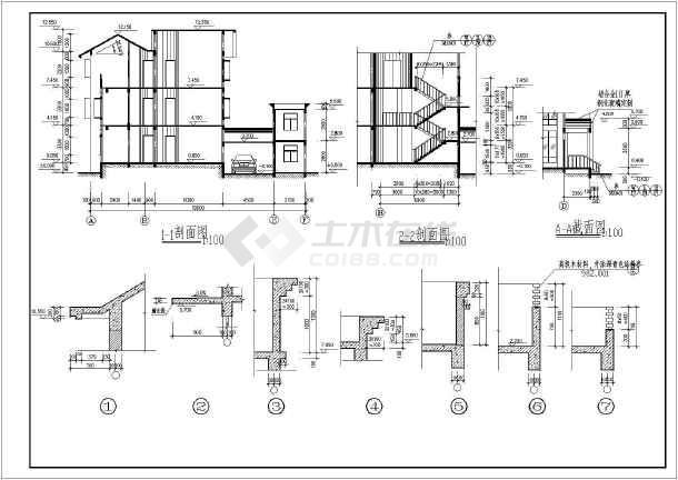 新颖独特三层新农村房屋建筑设计图-图二