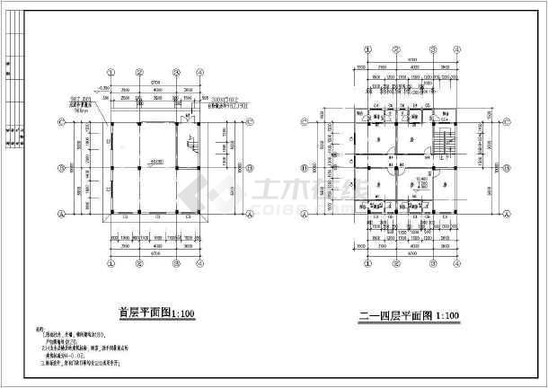 某五层私人住宅房屋建筑设计规划图-图2