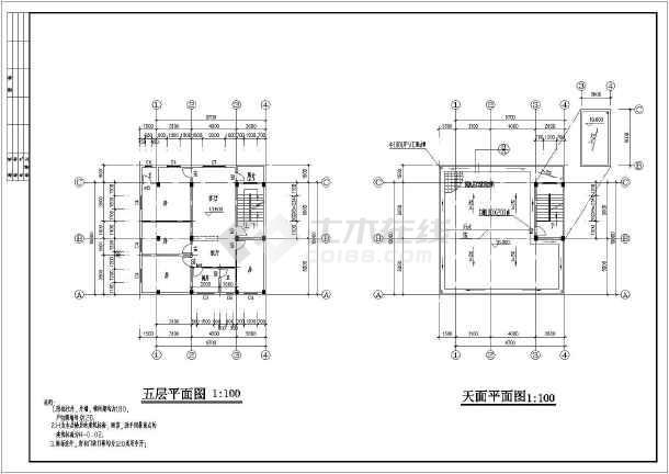 某五层私人住宅房屋建筑设计规划图-图3