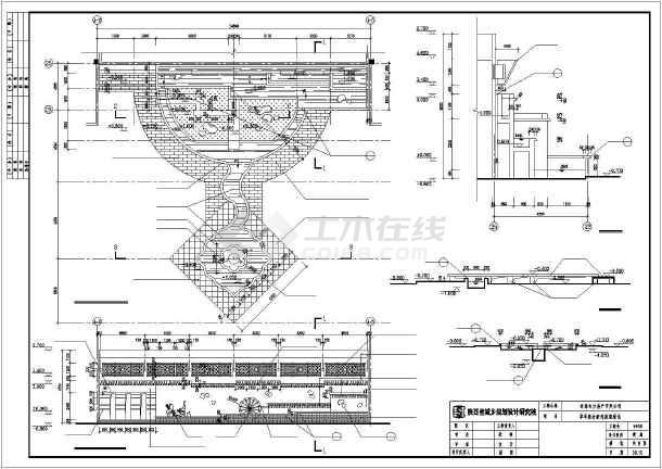 某休闲公园园林景观施工CAD图纸-图一