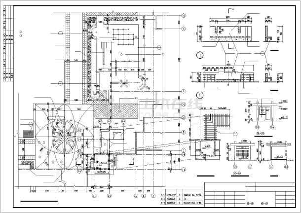 某休闲公园园林景观施工CAD图纸-图二