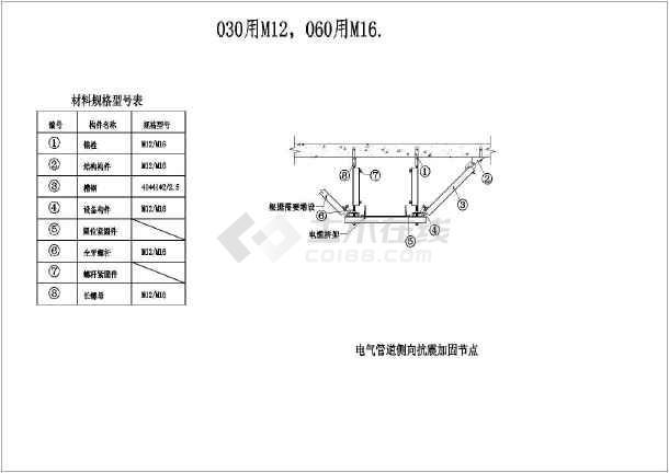 电气抗震支架详图-图2