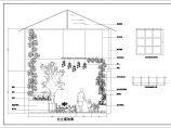 某高层住宅楼屋顶花园绿化cad设计图纸图片1