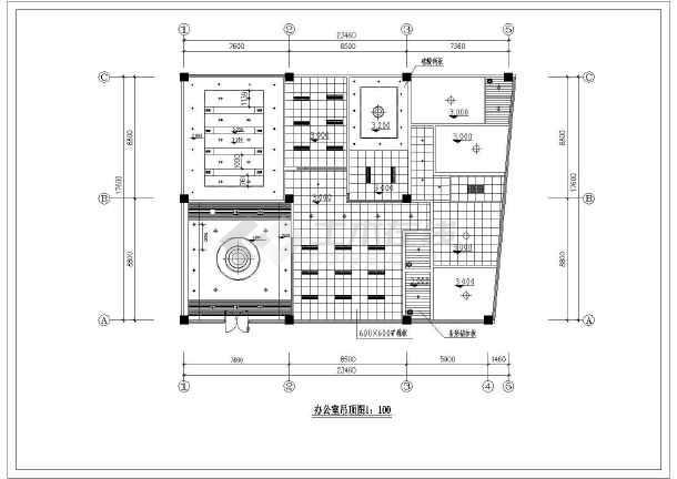 某办公楼建筑全套装修方案施工图纸-图1