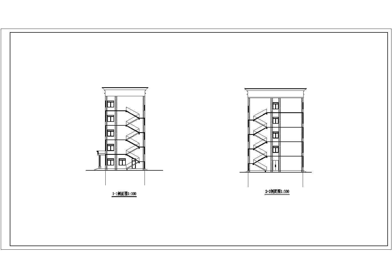 中学教学楼五层框架结构优秀毕业设计图片3