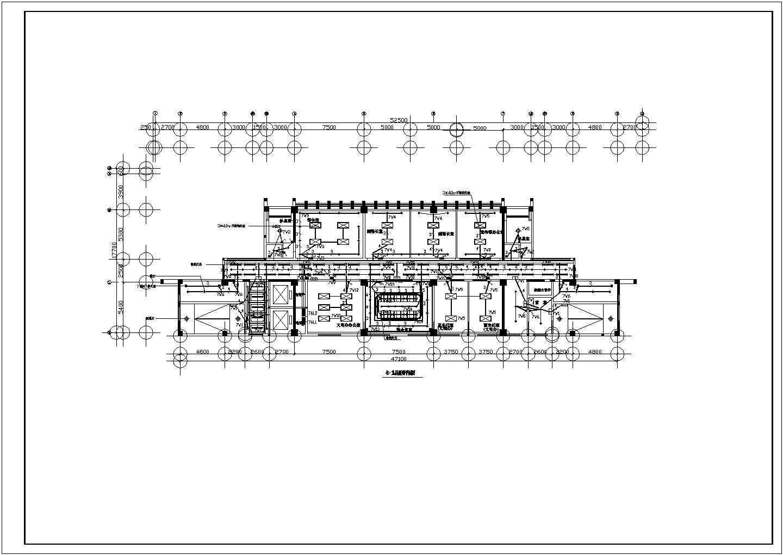 某地区十三层办公楼电气照明平面设计图图片1