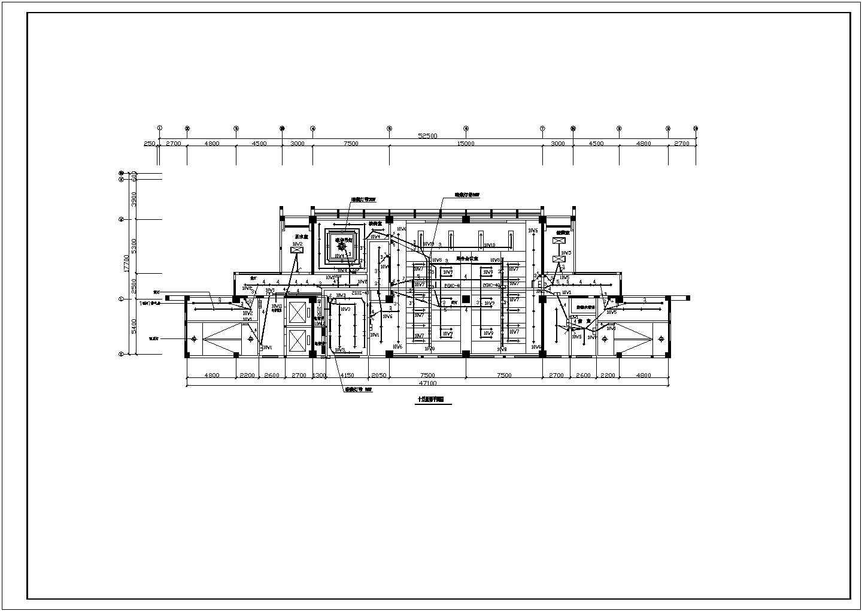 某地区十三层办公楼电气照明平面设计图图片2