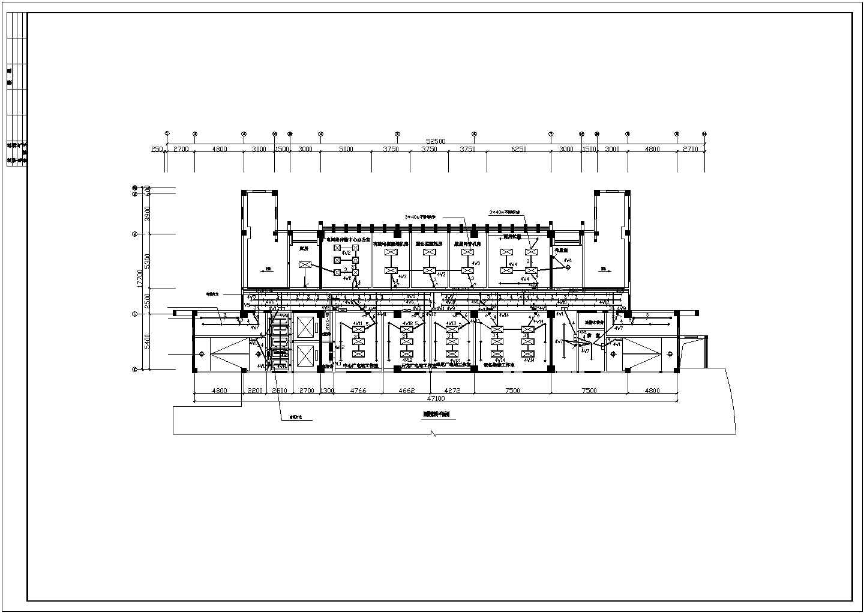 某地区十三层办公楼电气照明平面设计图图片3