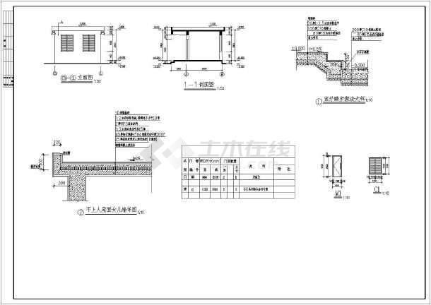 一层医院污水处理机房氧气站建筑caf施工图-图1