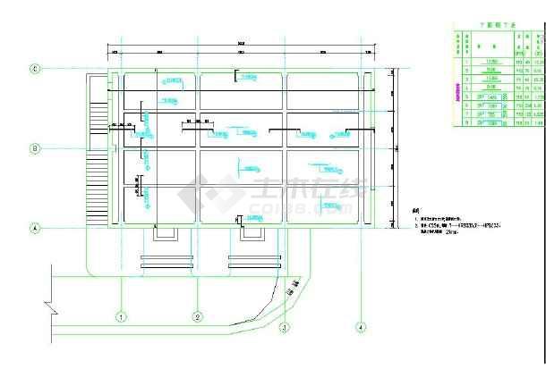 某地小型厂房设计水利图纸-图二