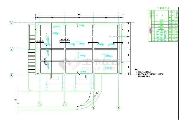 某地小型厂房设计水利图纸-图1