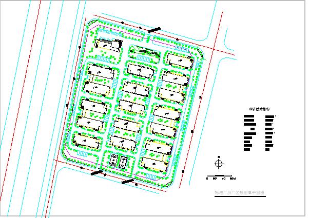 沿海城市标准厂房规划总平面图图片1