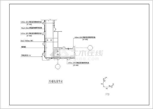 某工程钢结构建筑cad设计详图-图二