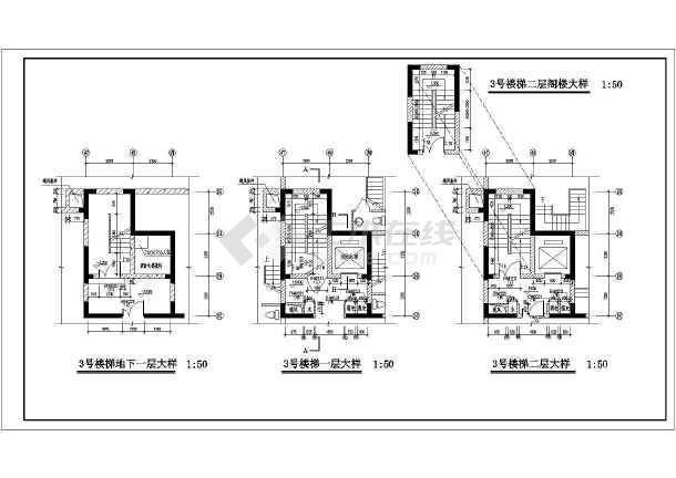 点击查看某工程楼梯与电梯设计施工图第1张大图