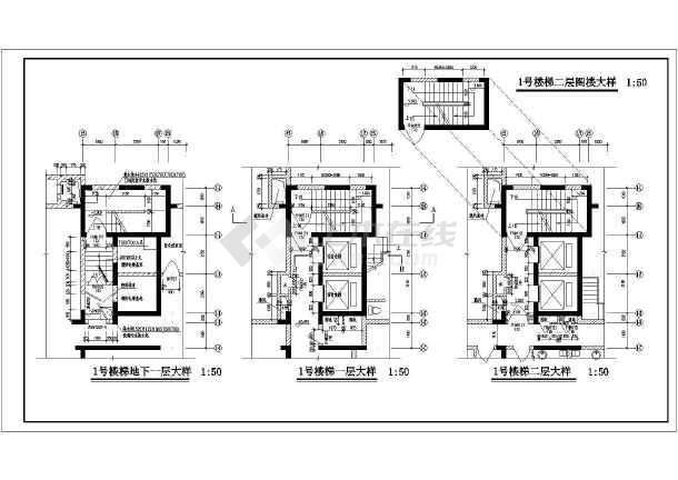 点击查看某工程楼梯与电梯设计施工图第2张大图
