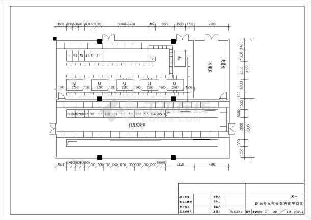 变压器配电系统cad施工设计图纸-图1