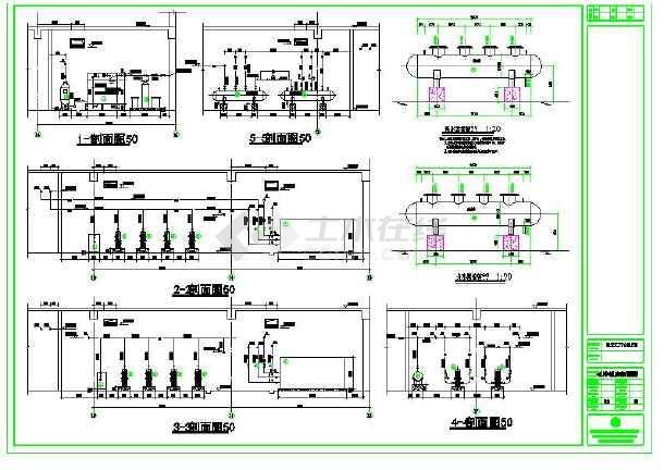 某地小型中央空调机房施工图-图1