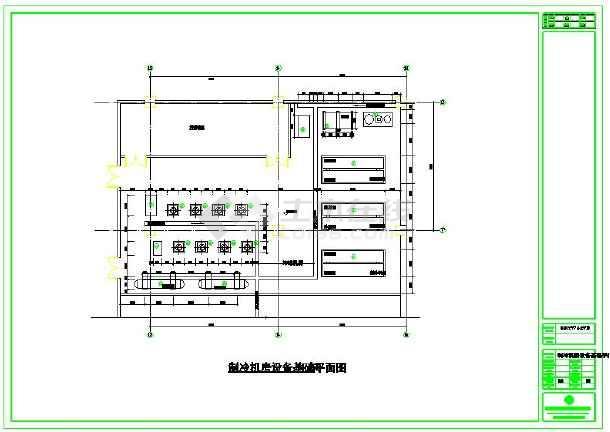 某地小型中央空调机房施工图-图2