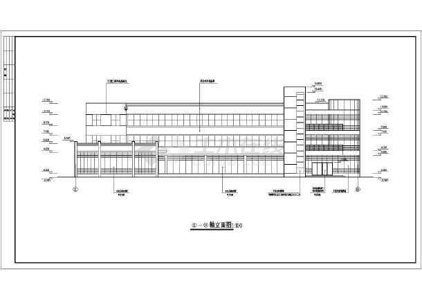 点击查看某小型办公楼建筑cad施工图第1张大图
