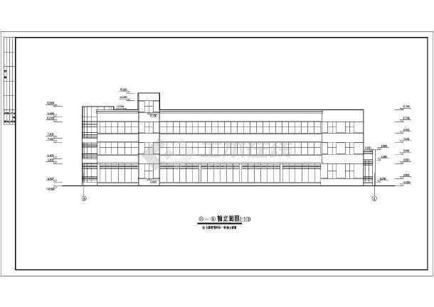 点击查看某小型办公楼建筑cad施工图第2张大图