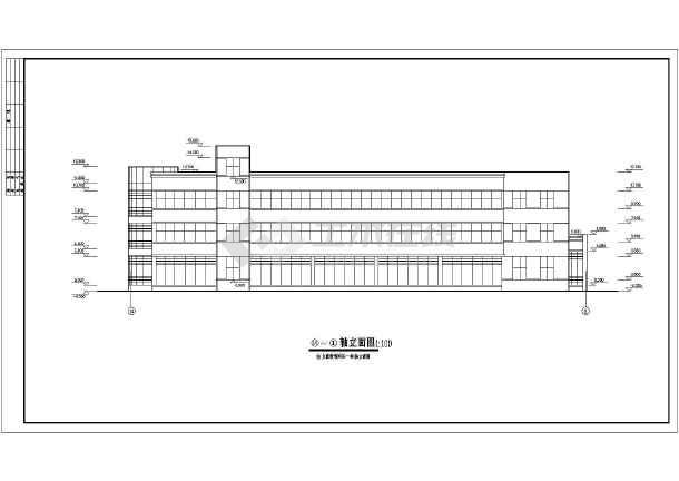 某小型办公楼建筑cad施工图-图1