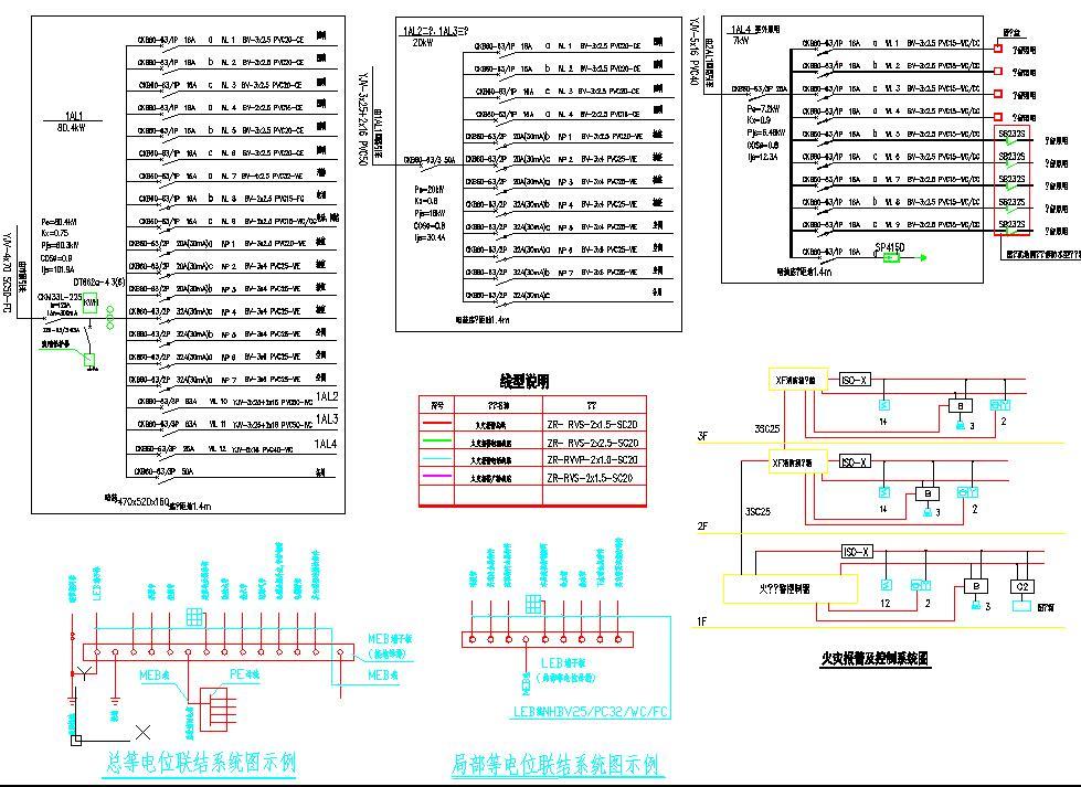 某地大型三层办公楼电气设计图(含设计说明)图片2