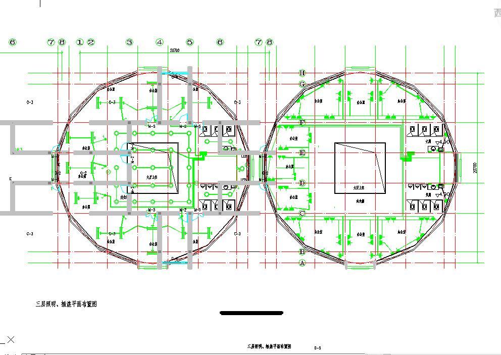 某地大型三层办公楼电气设计图(含设计说明)图片1