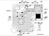 某高层建筑屋顶花园绿化cad设计平面施工图图片1