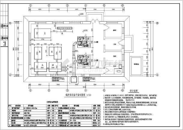 燃气锅炉房设计图纸-图一图片