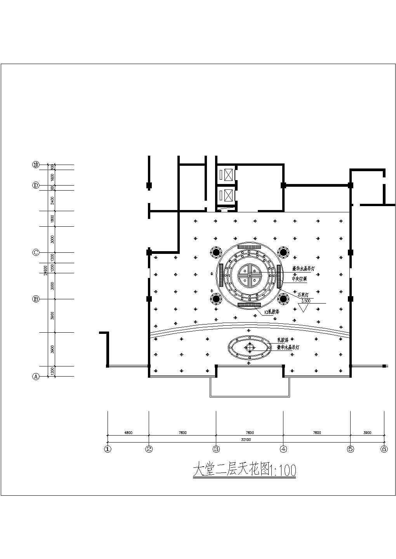 某地西餐厅一层平面图建筑设计CAD施工图图片3
