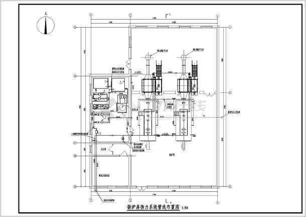 6t燃气锅炉房热力系统设计图片