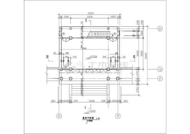 园林古建筑设计方案cad文本图纸-图1