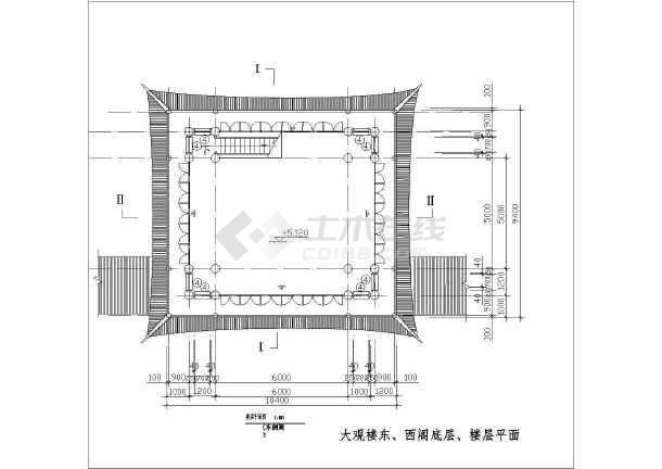园林古建筑设计方案cad文本图纸-图2
